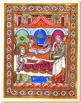 British Library, ms Egerton 809, f° 1v, XIIe s.