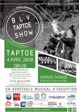 Blv Taptoe Show, Blv Taptoe Show Beauvais, fanfare Beauvais, grande parade Beauvais, BLV Music Show, elispace blv