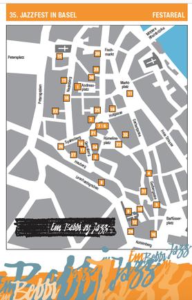 """""""Em Bebbi sy Jazz"""", ein schweizerisches Event im August in Grossbasel: Live-Musik Bühnenstandorte"""