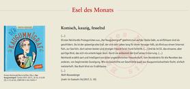 """""""Der Kaugummigraf"""" erhielt im April 2017 die Auszeichnung """"Esel des Monats"""" der Zeitschrift Eselsohr."""