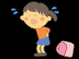 重たい荷物のイメージ 姿勢不良の原因は普段の生活にあるかもしれません