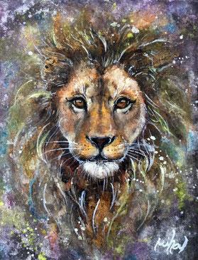 Mihal 「ライオン」 日本画