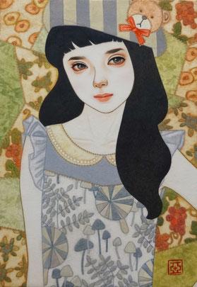 『詩』 日本画 SM 42,000円 ご予約済