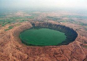 Photographie du Lac Lonar en Inde