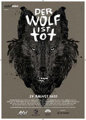 Der Wolf ist tot - poster - film directed by Renato Anneler, Elmar Vatter and Benoît Perritazpmann