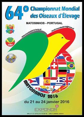 Subcampeón del Mundo Portugal 2016 Matosinhos, personata, personatus pied blue. arlequin linea azul, aviario miguel granada, cartel mundial portugal 2016