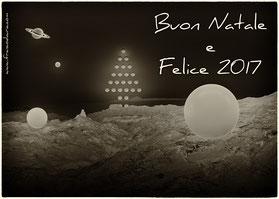 Cartolina Auguri Buon Natale e Felice 2017
