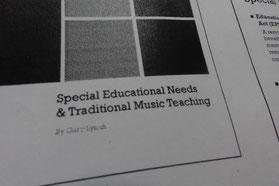 障害を持つ子供に伝統音楽を教えるためのレクチャーもありました。