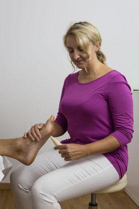 Massage der Füße