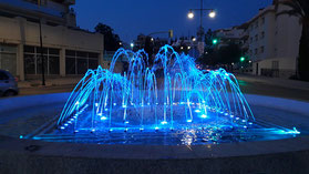 fuente ornamental juegos agua