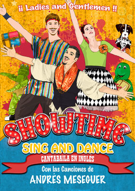 "Cartel de ""Showtime, sing and dance"""