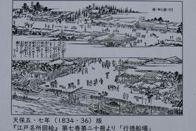 江戸名所図絵「行徳船場」(1836年)