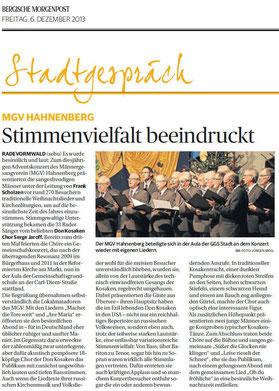 Bergische Morgenpost 06.12.2013