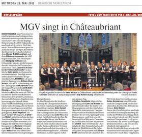 Bergische Morgenpost 23.05.2012