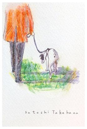 ドローイング(原画)  パステル ボールペン 色鉛筆 (個人蔵)