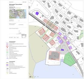Situationsplan Bebauungsplan Kernzone Winkel