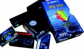 MiniDV, Hi8, Video8 Kassetten