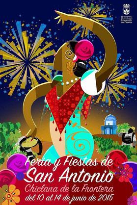 Cartel y programa de la Feria y Fiestas de San Antonio 2015 en Chiclana de la Frontera