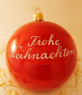 Kalligrafieevent Breuninger_Stuttgart_Weihnachtskugeln