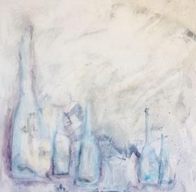 Luftflaschen, Acryl auf Leinwand, JULIA! Neulinger-Kahl