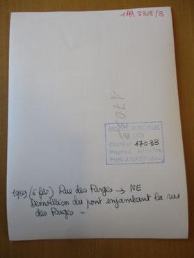 Le verso de la photo avec l'indication de la date : 1989 (6 fév.)