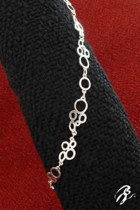 bracelet argent bulles