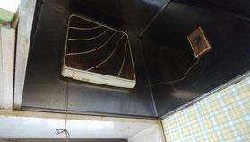 ハウスクリーニング前の換気扇及びレンジフード