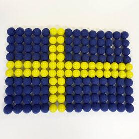 スウェーデン国旗とサイレントソックス
