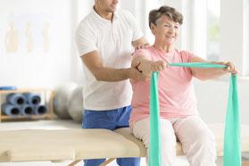 Neurologische Physiotherapie methode Bobath bei Erkrankungen am ZNS in der Physiotherapie Santewell in Basel