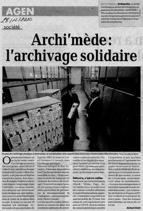 La Dépêche, le 28/12/2010