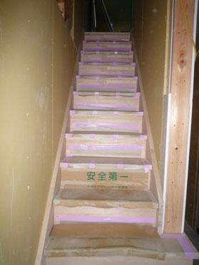 カバの素敵な木製階段施工
