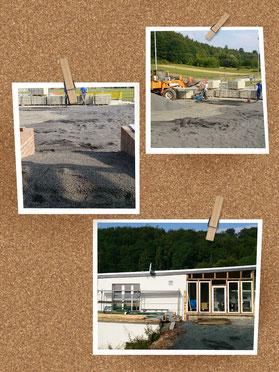 """Verfolgen Sie den Verlauf der Baumaßnahmen am Vereinsheim unter """"Ausbau Vereinsheim"""" oder klicken Sie auf eines der Bilder!"""