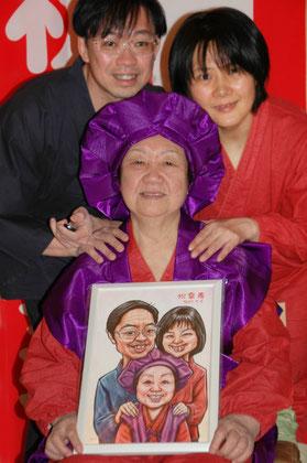 【ギフトに最高!プレゼントに嬉しい!】ご両親へカリカチュア似顔絵です。