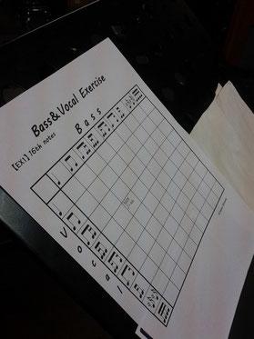 ベースボーカル練習表