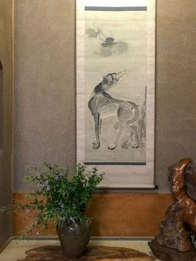 妙法山阿彌陀寺の月下狼狽図