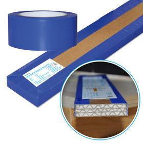PhoneStrip Entkopplungsstreifen im Querschnitt, Klebeband, Schwingverbindung zur Körperschallentkopplung
