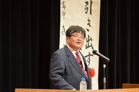 【講師の森永卓郎氏】