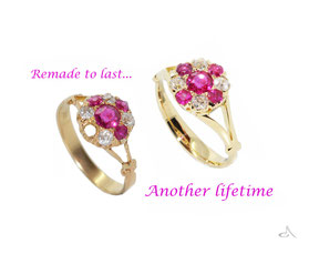 This ring was so worn it unfortunately couldn't be repaired.  I lovingly remade it,