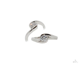 A platinum ring made from two old rings, our lives evolve, so can our rings xx