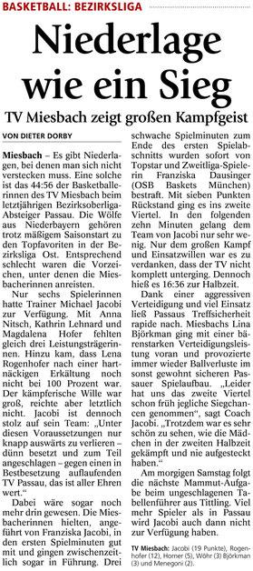 Artikel im Miesbacher Merkur am 12.12.2014 - Zum Vergrößern Klicken