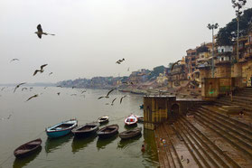 Varanasi Badetreppen