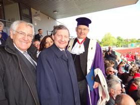 Avec Sir Richard Collas, Bailli de Guernesey et Jean-François Le Grand