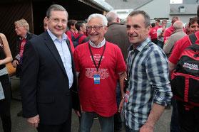 Avec Casimir Lechevallier, maire honoraire de St Pois et PatriceHamelin, président du festival