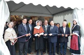 """Inauguration de la foire """"Percy fête la Normandie"""" qui avait lieu 10,11 et 12 avril 2015"""