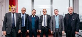Jean-Léonce Dupont, Hervé Morin, Sébastien Lecornu, Pascal Martin, Philippe Bas et Alain Lambert.