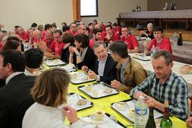 Repas avec les bénévoles