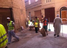 Association Roudana, collecte des déchets