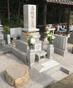 オール万成石墓1尺角:岡山市:先代のお墓