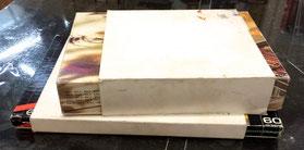 厚紙で箱に腹巻き パステルをしっかり保護