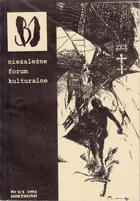 Vierteljahrsschrift für Literatur & kunst - B1 / Nr. 2/3  Stefan Zajonz, Gedichte, S. 88-89, Dortmund, 1994